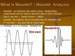 what is wavelet wavelet analysis