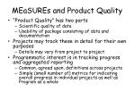 measures and product quality