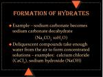 formation of hydrates1