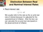 distinction between real and nominal interest rates1