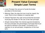 present value concept simple loan terms