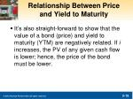 relationship between price and yield to maturity1