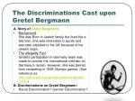 the discriminations cast upon gretel bergmann