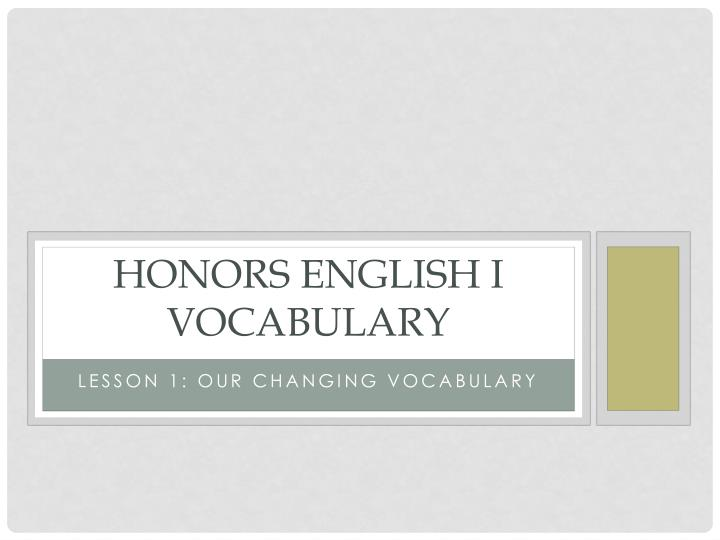 honors english i vocabulary n.