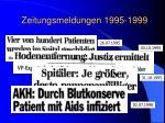 zeitungsmeldungen 1995 1999