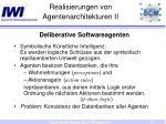 realisierungen von agentenarchitekturen ii