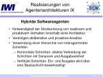 realisierungen von agentenarchitekturen ix