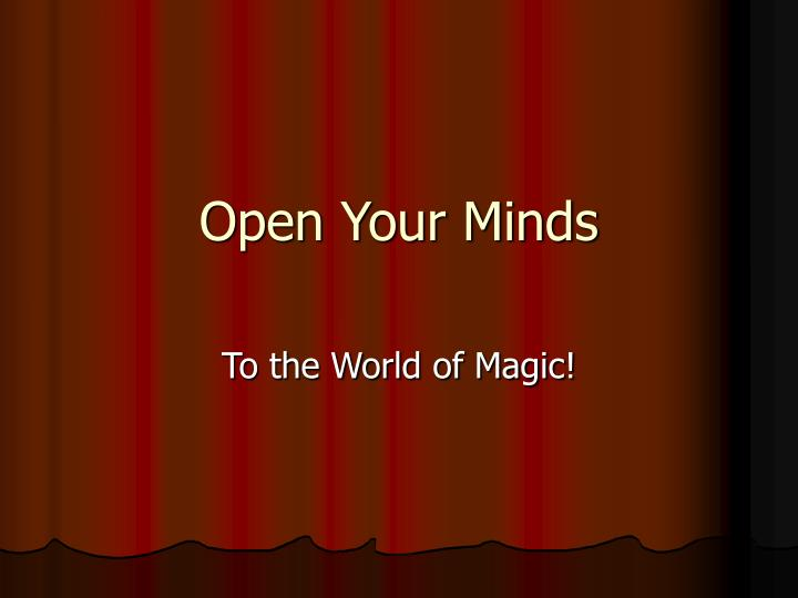open your minds n.