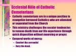ecclesial r le of catholic cemeterians
