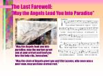 the last farewell may the angels lead you into paradise