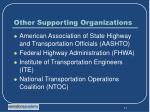 other supporting organizations