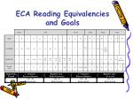 eca reading equivalencies and goals