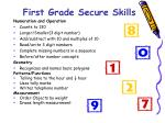 first grade secure skills