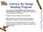 literacy by design reading program