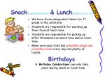 snack classroom10 15 10 25 lunch cafeteria 12 15 12 35