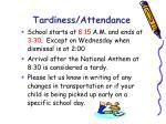 tardiness attendance