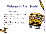 welcome to first grade1
