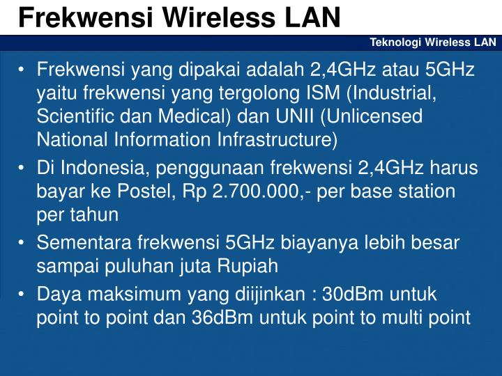 Teknologi wireless lan1