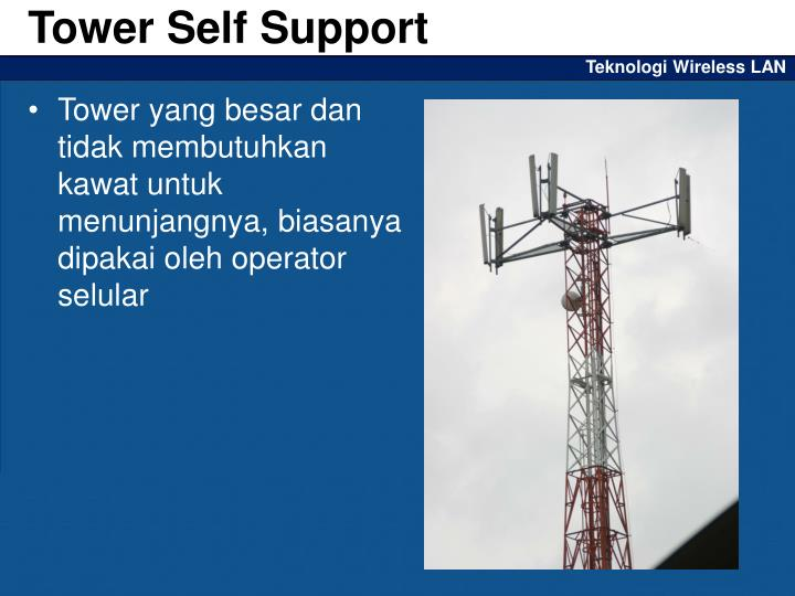 Tower Self Support