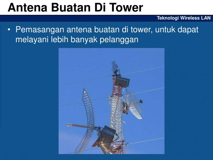 Antena Buatan Di Tower