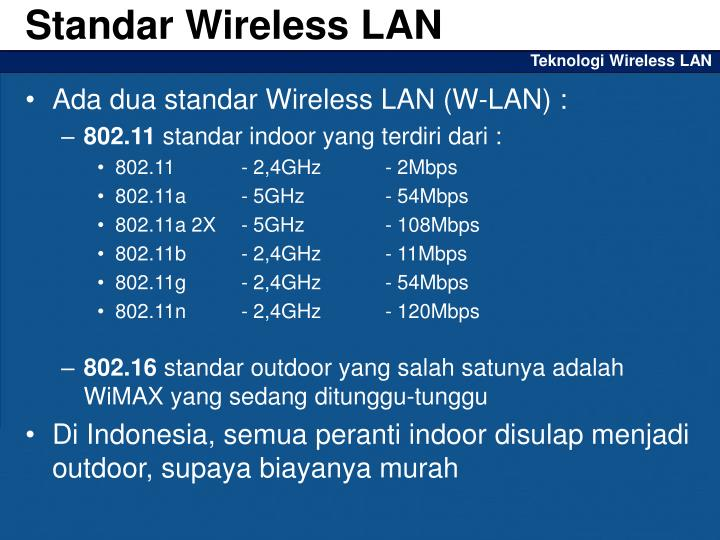 Standar Wireless LAN