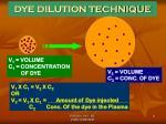 dye dilution technique