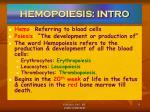 hemopoiesis intro