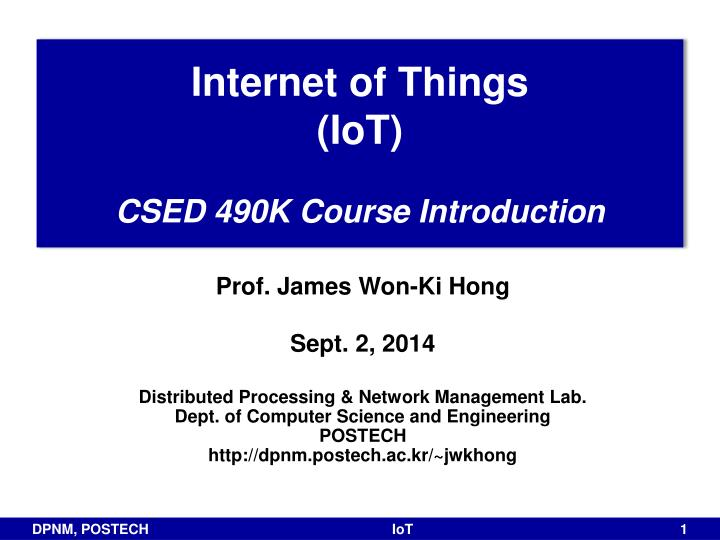 internet of things ppt