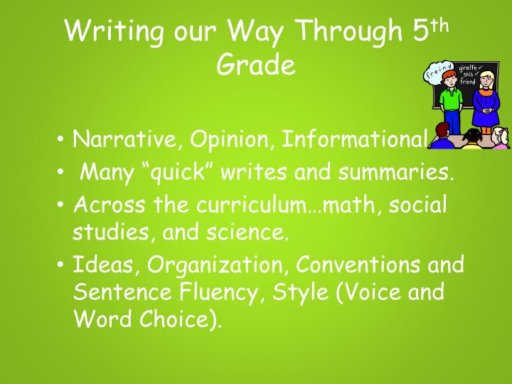 Writing our Way Through 5
