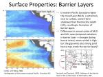 surface properties barrier layers