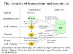 the interplay of transactions and persistence