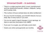 universal credit in summary