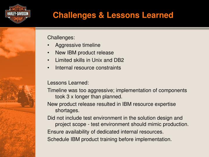 Challenges & Lessons Learned