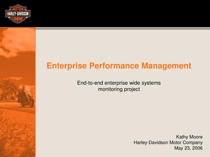 enterprise performance management n.