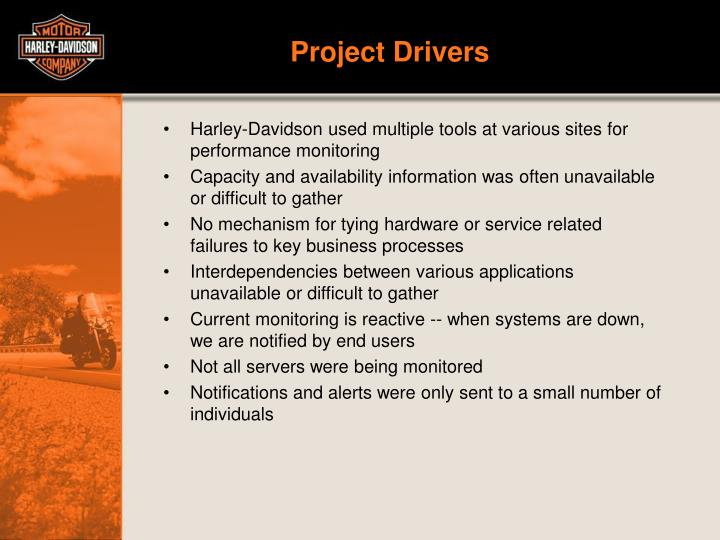 Project drivers