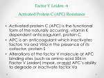 factor v leiden activated protein c apc resistance