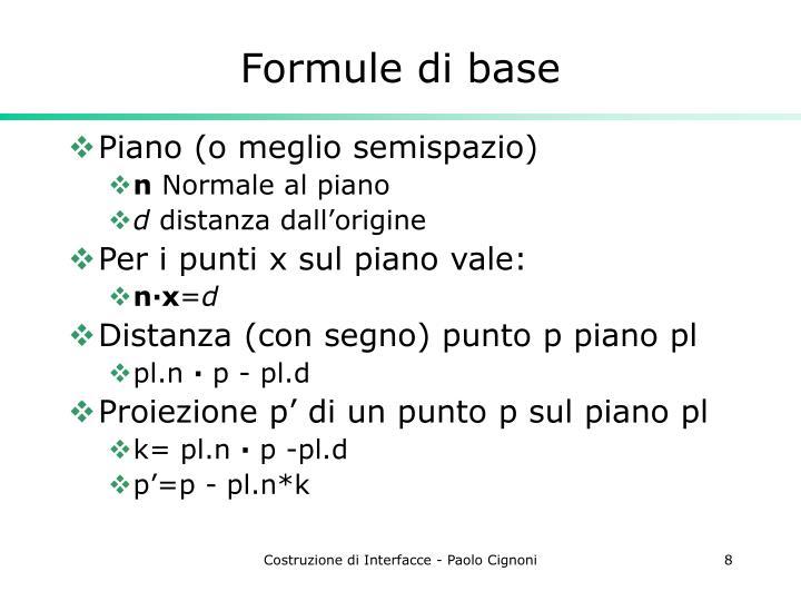 Formule di base