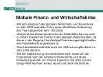 globale finanz und wirtschaftskrise