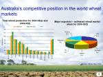 australia s competitive position in the world wheat markets