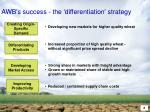 awb s success the differentiation strategy