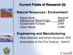 current fields of research 3
