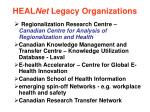 heal net legacy organizations