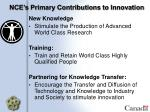 nce s primary contributions to innovation