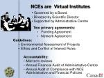 nces are virtual institutes