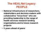 the heal net legacy people