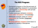 the nce program
