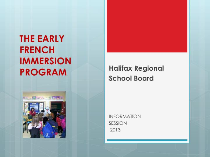 the early french immersion program n.