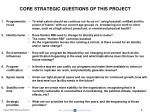 core strategic questions of this project