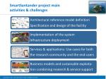 smartsantander project main activities challenges