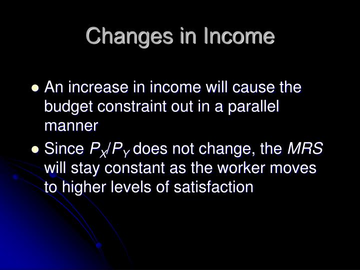 changes in income n.